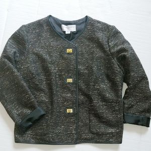 Jaclyn Smith collection tweed jacket
